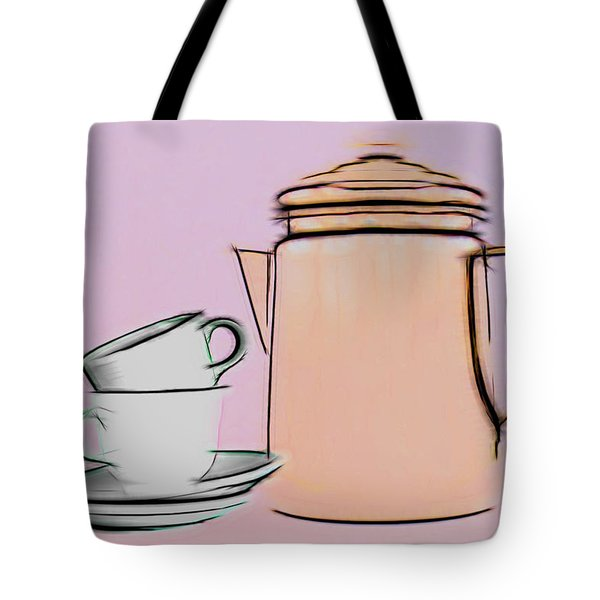 Retro Style Coffee Illustration Tote Bag