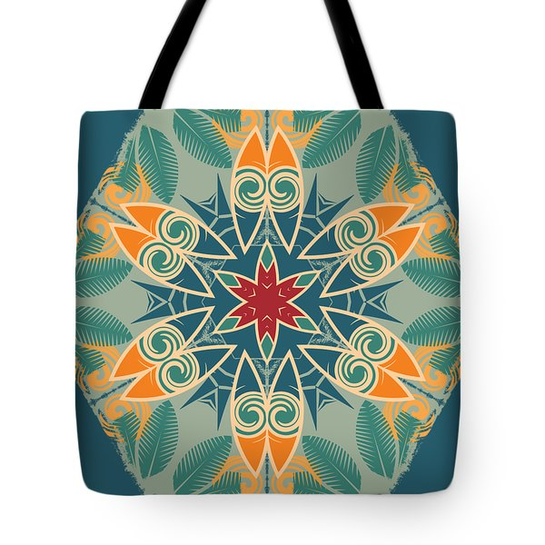 Tote Bag featuring the photograph Retro Surfboard Woodcut by Mary Machare