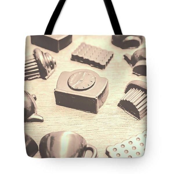 Retro Tea Party Tote Bag