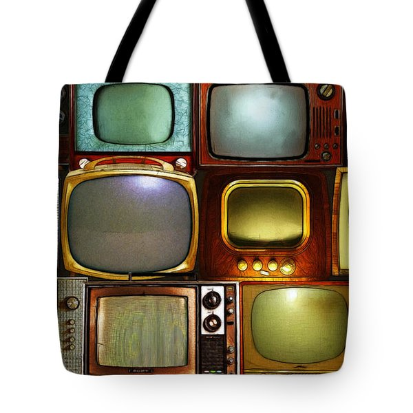 Retro Television Marathon 20150928long V2 Tote Bag