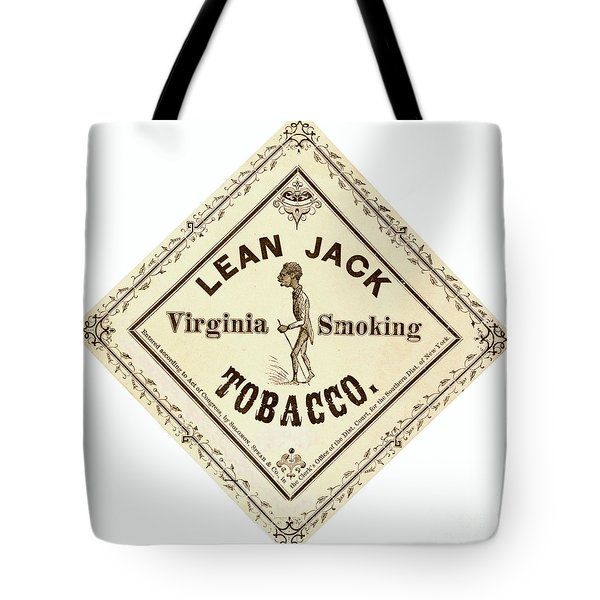 Tote Bag featuring the photograph Retro Tobacco Label 1867 A by Padre Art