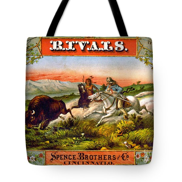 Tote Bag featuring the photograph Retro Tobacco Label 1872 D by Padre Art