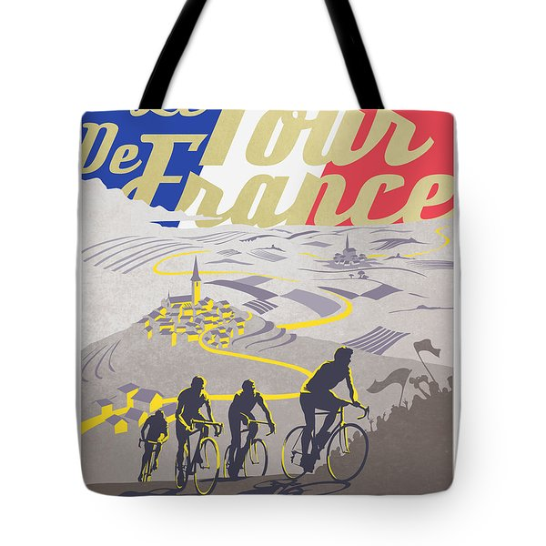 Retro Tour De France Tote Bag