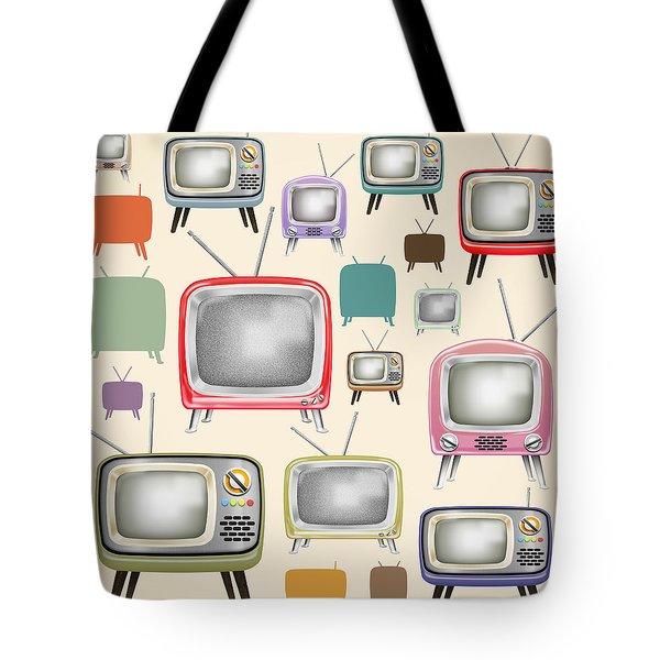 retro TV pattern  Tote Bag
