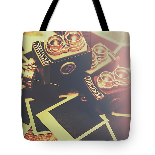 Retro Twin Lens Reflex Cameras Tote Bag