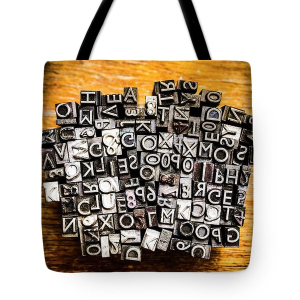 Retro Typesetting In Print Tote Bag