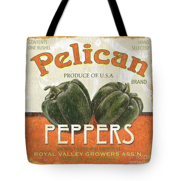 Retro Veggie Labels 3 Tote Bag