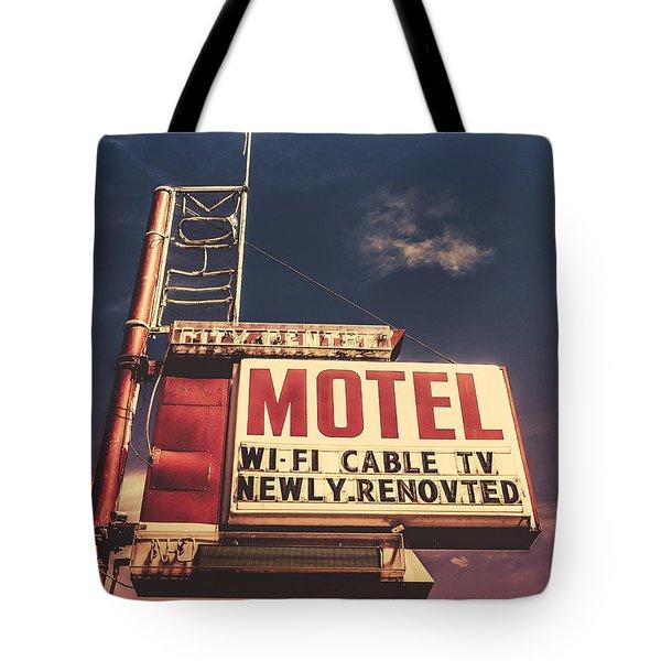 Retro Vintage Motel Sign Tote Bag