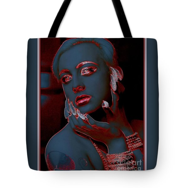 Retro Beauty Tote Bag by Irma BACKELANT GALLERIES