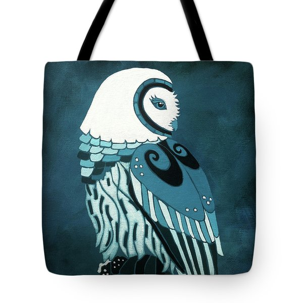 Retrospect In The Moonlight Owl Tote Bag