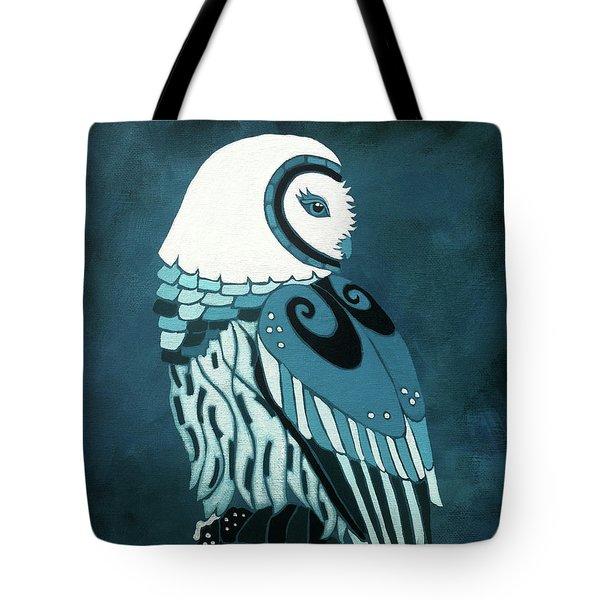 Retrospect In The Moonlight Owl Tote Bag