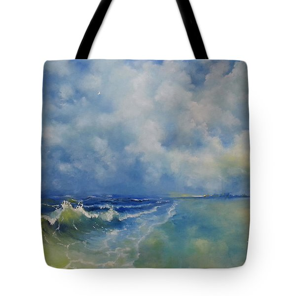 Retrospection Seascape Tote Bag