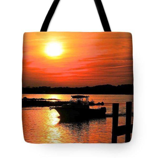 Return At Sunset Tote Bag