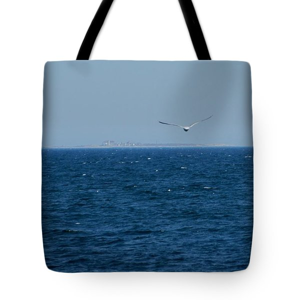 Tote Bag featuring the digital art Return To The Isle Of Shoals by Barbara S Nickerson