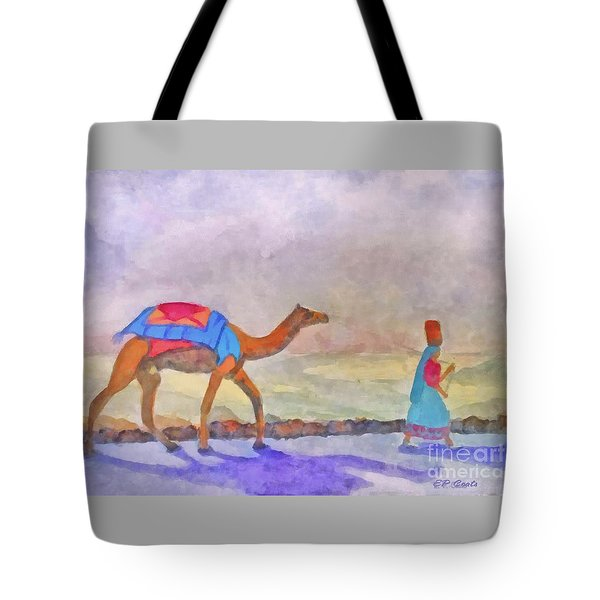 Tote Bag featuring the painting Returning From Market by Elizabeth Coats