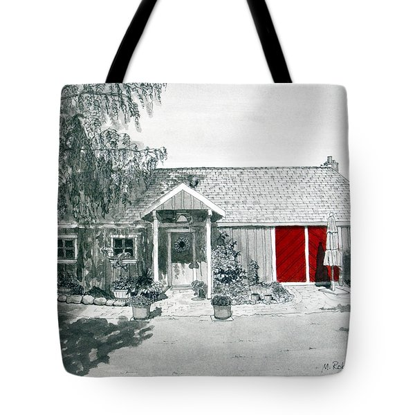 Retzlaff Winery With Red Door No. 2 Tote Bag by Mike Robles
