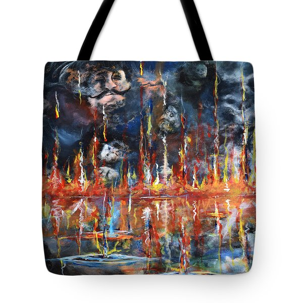Revelations 20_ 14-15 Tote Bag by Gary Smith