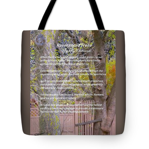 Reverence Of Trees Tote Bag