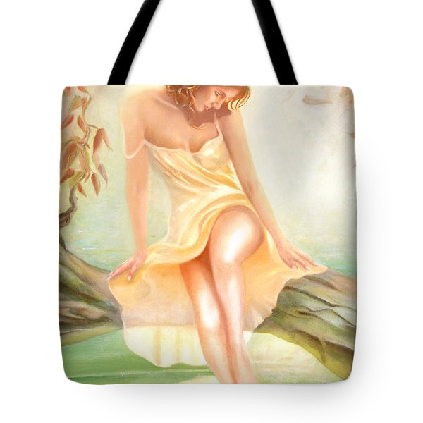 Tote Bag featuring the painting Reverie by Michael Rock