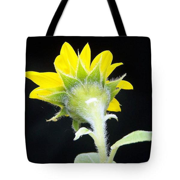 Reverse Sunflower Tote Bag