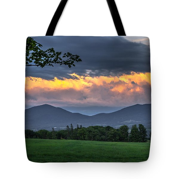 Reverse Sunset Tote Bag
