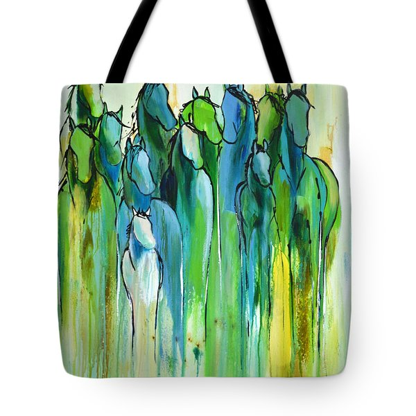 Tote Bag featuring the painting Revive by Cher Devereaux