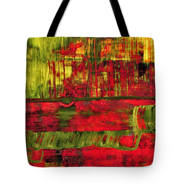 Summer Rain  - Abstract Colorful Mixed Media Painting Tote Bag