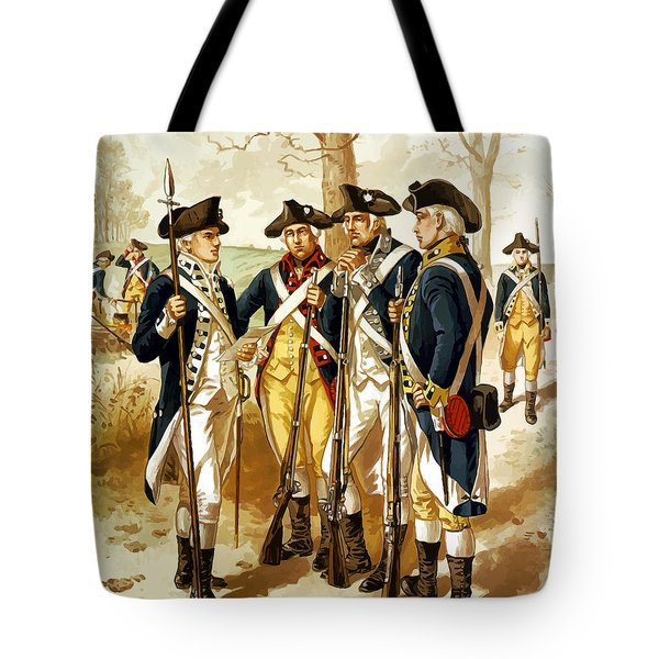 Revolutionary war infantry painting by is hell store