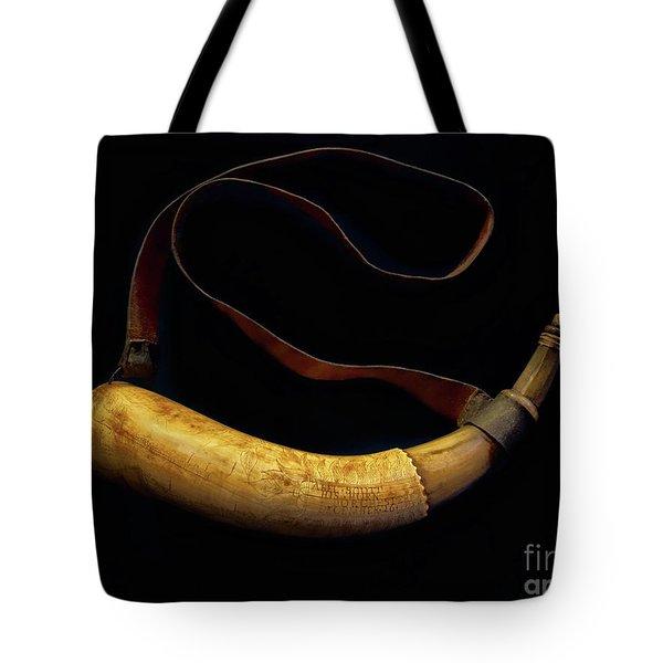 Revolutionary War Powder Horn Tote Bag