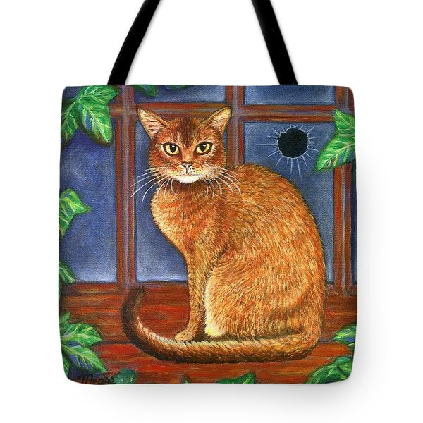 Rex The Cat Tote Bag by Linda Mears