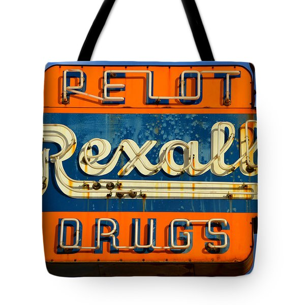 Rexall Drugs Sign 1940s Tote Bag