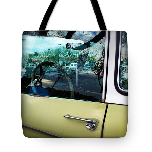 Tote Bag featuring the painting Rez Cred And A Tree by Carolina Liechtenstein