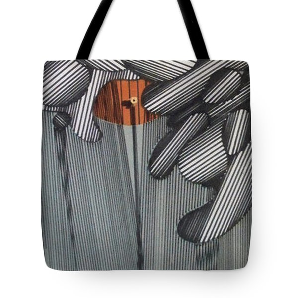 Tote Bag featuring the drawing Rfb0100 by Robert F Battles