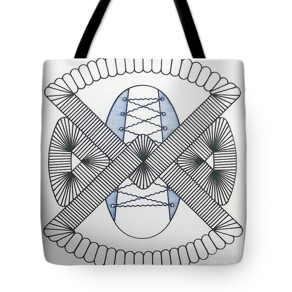 Tote Bag featuring the drawing Rfb1001 by Robert F Battles