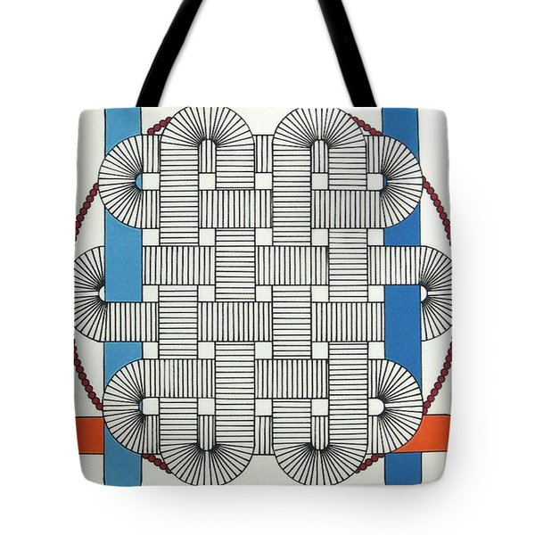 Tote Bag featuring the drawing Rfb1004 by Robert F Battles