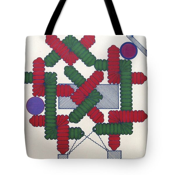 Tote Bag featuring the drawing Rfb1007 Diagonal by Robert F Battles