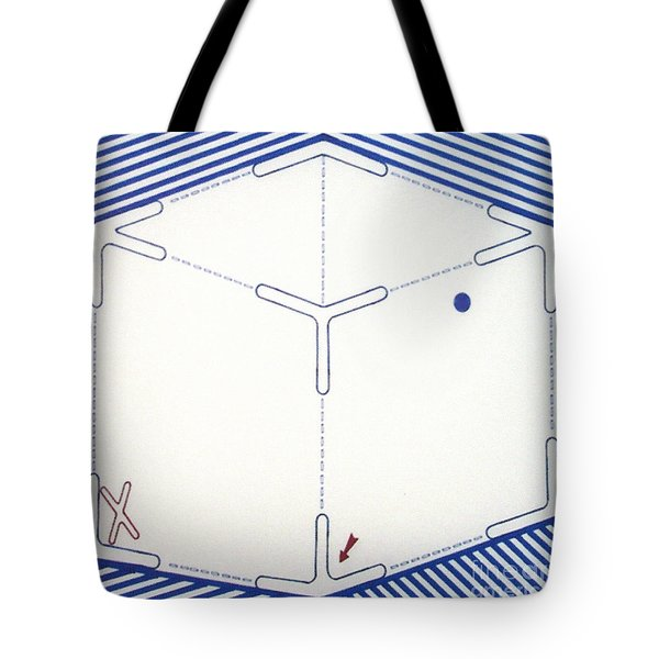 Tote Bag featuring the drawing Rfb1011 by Robert F Battles
