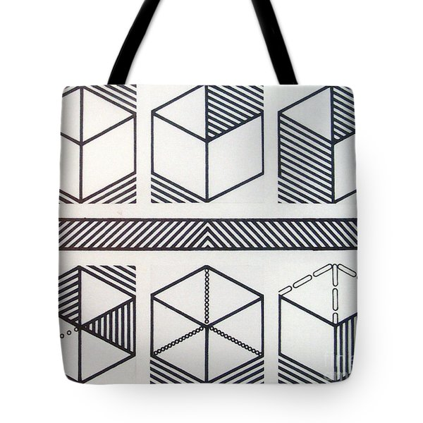 Tote Bag featuring the drawing Rfb1018 by Robert F Battles