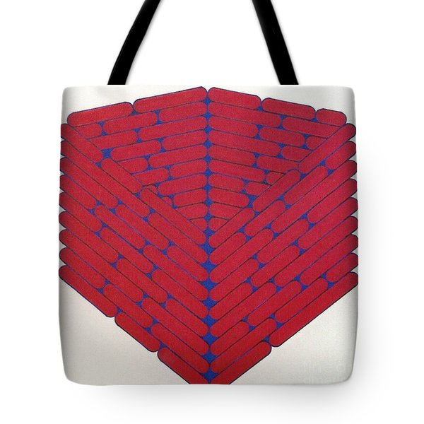Tote Bag featuring the drawing Rfb1019 by Robert F Battles