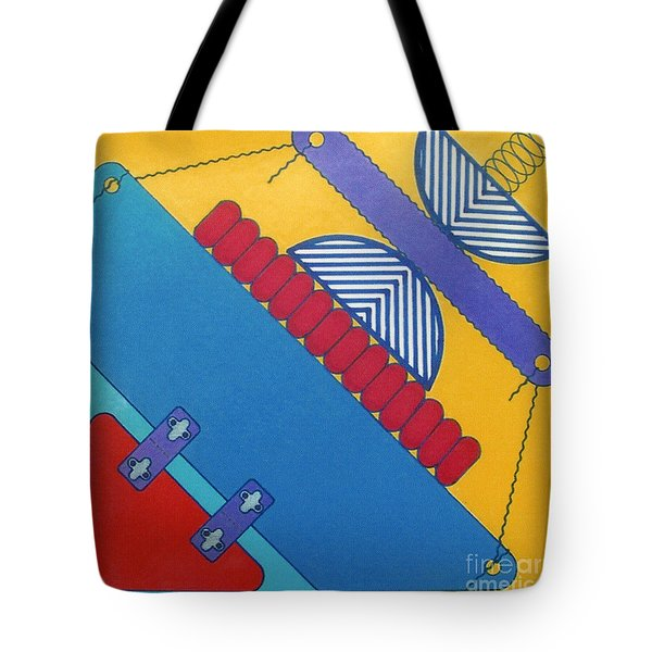 Tote Bag featuring the drawing Rfb1026 Diagonal by Robert F Battles