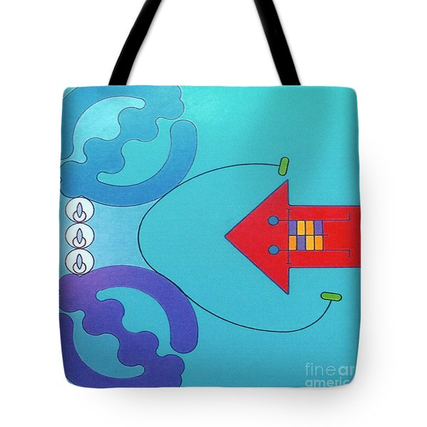 Tote Bag featuring the drawing Rfb1027 by Robert F Battles
