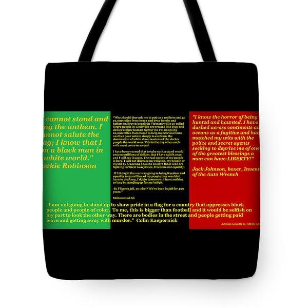 Colin Kaepernick Rbg Tote Bag