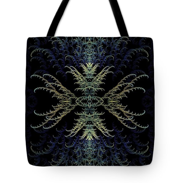 Rhapsody In Blue And Gold Tote Bag