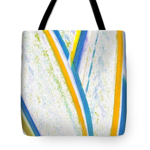 Tote Bag featuring the digital art Rhapsody In Leaves No 3 by Ben and Raisa Gertsberg