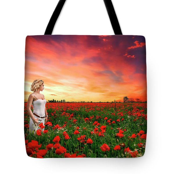 Rhapsody In Red Tote Bag