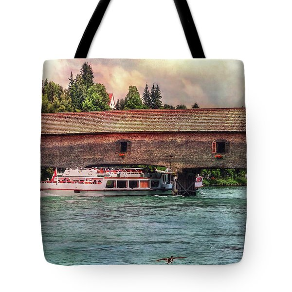 Tote Bag featuring the photograph Rhine Shipping by Hanny Heim