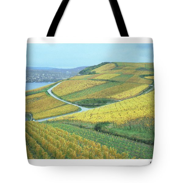 Tote Bag featuring the photograph Rhine Vineyard by R Thomas Berner