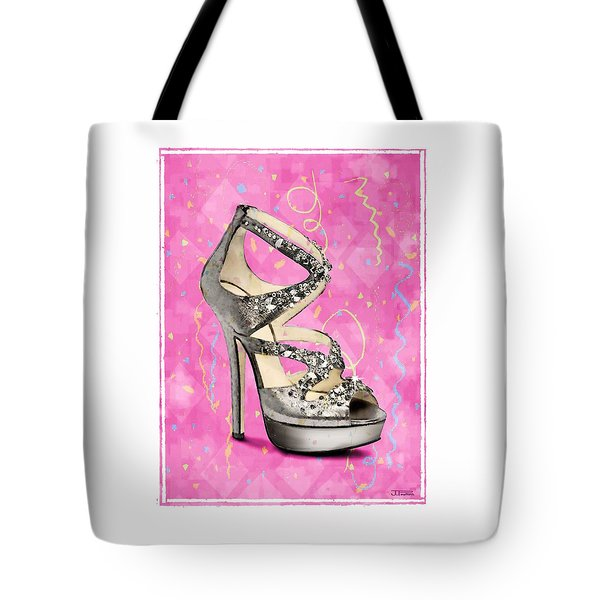 Rhinestone Party Shoe Tote Bag by Jann Paxton