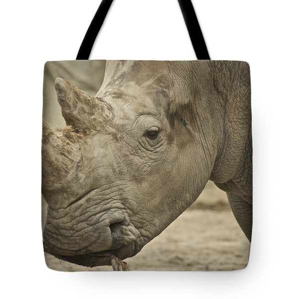 Rhino Tote Bag by Michael Peychich
