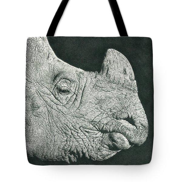Rhino Pencil Drawing Tote Bag